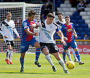 Dundee&rsquo;s Darren O&rsquo;Dea holds off Inverness&rsquo; Danny Williams  - Inverness Caledonian Thistle  v Dundee, Ladbrokes Scottish Premiership at Caledonian Stadium <br /> <br />  - &copy; David Young - www.davidyoungphoto.co.uk - email: davidyoungphoto@gmail.com