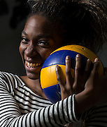 Sara Piana Yafu, the 19-year-old rookie on the Lancers volleyball team has taken the college athletics scene by storm. Off the court she is a quiet bubbly person, but when she plays, her aggressiveness comes out.