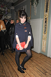 GIZZI ERSKINE at a party to celebrate the 1st anniversary of Alice Temperley's label held at Paradise, Kensal Green, London W10 on 25th November 2010.