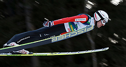12.01.2014, Kulm, Bad Mitterndorf, AUT, FIS Ski Flug Weltcup, Erster Durchgang, im Bild Simon Ammann (SUI) // Simon Ammann (SUI) during the first round of FIS Ski Flying World Cup at the Kulm, Bad Mitterndorf, .Austria on 2014/01/12, EXPA Pictures © 2013, PhotoCredit: EXPA/ Erwin Scheriau