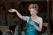 19/10/2011. London's last remaining music hall, Wilton's, presents a new production of 'Britannicus', Racine's study of Rome under the tyranny of Nero's rule. Directed by Irina Brown. Picture shows Sian Thomas as Agrippina. Photo credit : Tony Nandi/LNP
