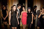 SCOUT WILLIS; ASHTON KUTCHER; DEMI MOORE; TALLULAH WILLIS,  Drinks the evening before the The 2008 Crillon Debutante Ball. Baccarat. Place des Etats-Unis.  Paris. 29 November 2008. *** Local Caption *** -DO NOT ARCHIVE-© Copyright Photograph by Dafydd Jones. 248 Clapham Rd. London SW9 0PZ. Tel 0207 820 0771. www.dafjones.com.