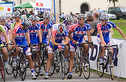 Robert Vrecer, Tomaz Nose, Jure Zagar, Matej Gnezda, Blaz Jarc and Marko Kump at Slovenian National Championships in Road cycling, 178 km, on June 28 2009, in Mirna Pec, Slovenia. (Photo by Vid Ponikvar / Sportida)