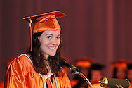 Senior Kaitlyn Danner speaks during the Stivers School For The Arts commencement at the Dayton Masonic Center, Saturday, May 19, 2012.