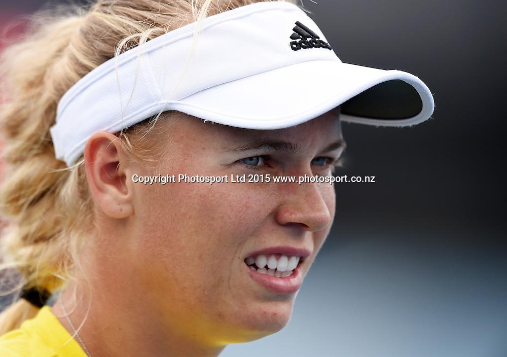 Top seed Caroline Wozniacki. ASB Classic Women's International. ASB Tennis Centre, Auckland, New Zealand. Saturday 3 January 2015. Copyright photo: Andrew Cornaga www.photosport.co.nz