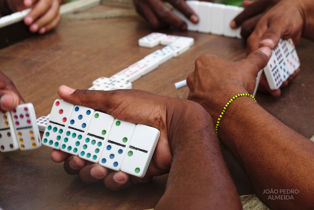 Playing domino in the street, rum was included in the mix