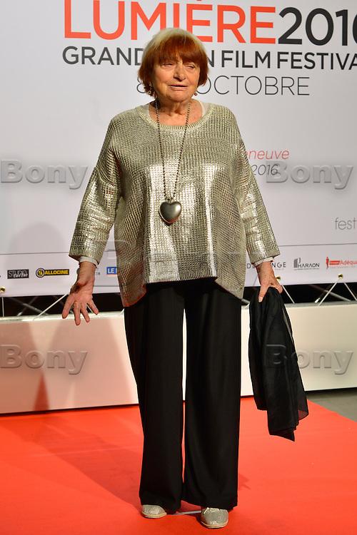 Agnes Varda<br /> Lyon 8 oct 2016 - Festival Lumi&egrave;re 2016 - C&eacute;r&eacute;monie d&rsquo;Ouverture<br /> 8th Film Festival Lumiere In Lyon : Opening Ceremony