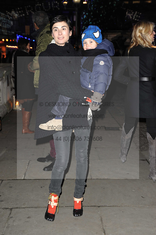 Francesca Amfitheatrof and her son Nikolai at Skate presented by Tiffany & Co at Somerset House, London on 22nd November 2010.