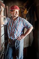 GAUCHO RAMON EN UN TAMBO, CARMEN DE ARECO, PROVINCIA DE BUENOS AIRES, ARGENTINA