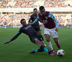 Trent Alexander-Arnold of Liverpool (L) and Dwight McNeil of Burnley in action - Mandatory by-line: Jack Phillips/JMP - 31/08/2019 - FOOTBALL - Turf Moor - Burnley, England - Burnley v Liverpool - English Premier League