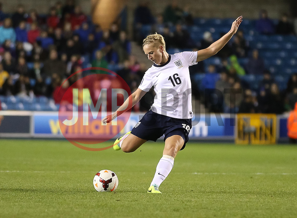 England's Natasha Dowie (Liverpool) - Photo mandatory by-line: Robin White/JMP - Tel: Mobile: 07966 386802 26/10/2013 - SPORT - FOOTBALL - The Den - Millwall - England Women v Wales Women - World Cup Qualifier - Group 6