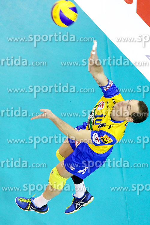 Nejc Pusnik of Aich Dob during volleyball match between ACH Volley Ljubljana and Posojilnica Aich - Dob in Semifinal of MEVZA Cup Men - Final Four, on March 11, 2016 in Hala Tivoli, Ljubljana, Slovenia. Photo by Morgan Kristan / Sportida