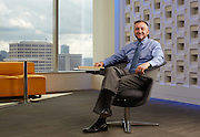 BBVA Compass director of mobility and new digital business technologies, Chad Ballard, is photographed Monday afternoon February 22, 2016 at BBVA offices in Houston, TX for American Banker magazine.<br /> <br /> Photographed by corporate Houston photographer Nathan Lindstrom<br /> <br /> Nathan Lindstrom Photography<br /> ©2016 Nathan Lindstrom