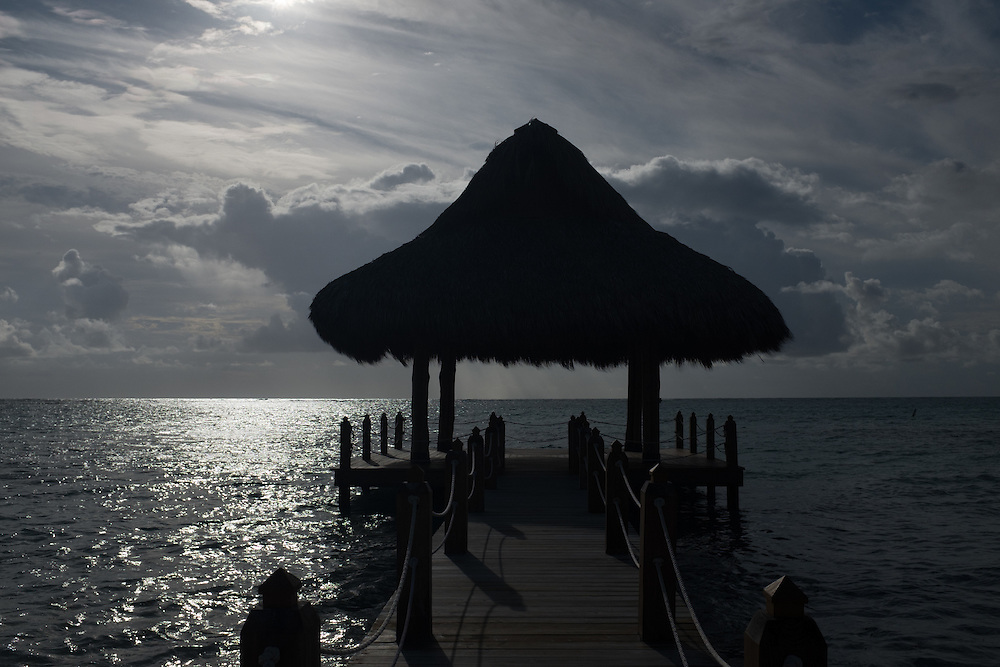 PUNTA CANA, DOMINICAN REPUBLIC-DECEMBER 3, 2014: A gazebo on the water behind the Westin Hotel in Punta Cana which is used for weddings and other activities. Story on tourism to the Caribbean Island.  (Photo by Angel Valentin/Getty Images for Der Spiegel)