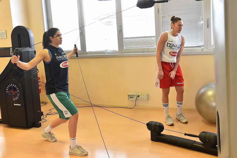 maddalena gaia gorini<br /> Nazionale Italiana Femminile Senior - Allenamento in Palestra<br /> FIP 2017/18<br /> Broni, 07/02/2018<br /> Foto M.Ceretti/ Ciamillo-Castoria