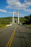© 2008 Randy Vanderveen, all rights reserved.near Hudson's Hope, British Columbia.A bridge crosses the Peace River near Hudson's Hope, B.C..
