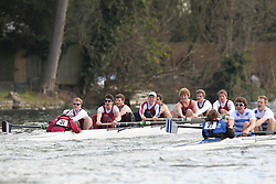 2012.02.25 Reading University Head 2012. The River Thames. Division 1. Oxford Brookes Boat Club IM3 8+