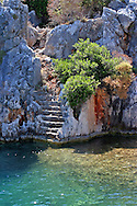 Roman ruins can be found under the water on the shores of  Kekova Island, Turkey.