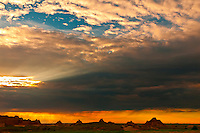 Sunset, Badlands National Park, South Dakota USA