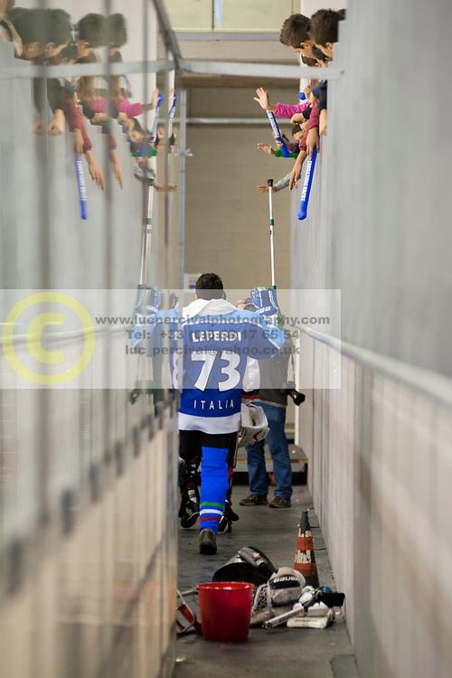 ITA v JPN during the 2013 World Para Ice Hockey Qualifiers for Sochi, Torino, Italy