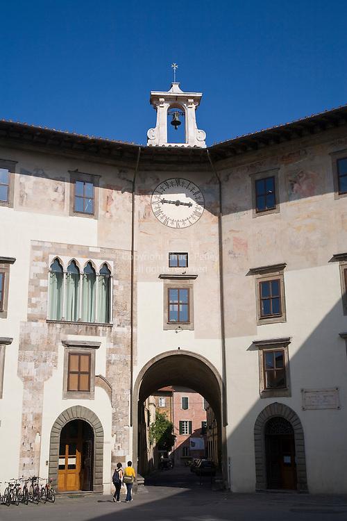 Palazzo dell Orologio, Library of the Scuola Normale Superiore, Pisa, Tuscany, Italy
