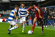George Friend (3) of Middlesbrough on the attack during the EFL Sky Bet Championship match between Queens Park Rangers and Middlesbrough at the Kiyan Prince Foundation Stadium, London, England on 9 November 2019.