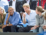 28.09.2017; Toronto, CANADA: PRESIDENT OBAMA AND PRINCE HARRY <br /> watch the Invictus basketball match between USA and France at the Pan Am Sports Centre, Toronto<br /> Picture shows: 18-year-ol Hayley Sover with President Obama and Prince Harry.<br /> Mandatory Photo Credit: &copy;Francis Dias/NEWSPIX INTERNATIONAL<br /> <br /> IMMEDIATE CONFIRMATION OF USAGE REQUIRED:<br /> Newspix International, 31 Chinnery Hill, Bishop's Stortford, ENGLAND CM23 3PS<br /> Tel:+441279 324672  ; Fax: +441279656877<br /> Mobile:  07775681153<br /> e-mail: info@newspixinternational.co.uk<br /> Usage Implies Acceptance of Our Terms &amp; Conditions<br /> Please refer to usage terms. All Fees Payable To Newspix International