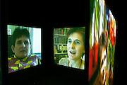 "Kutlug Ataman/Turkey, video installation ""The Four Seasons of Veronica Read"" (2002).Old Binding Brewery exhibition site.."