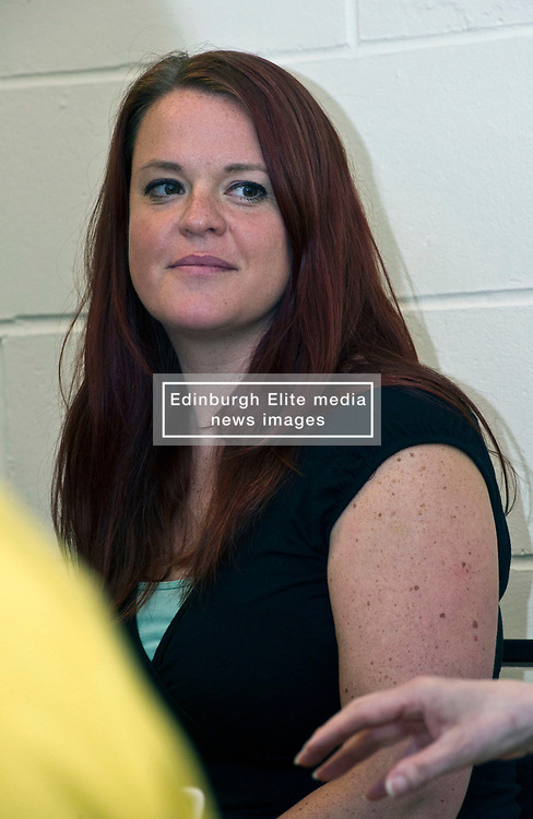 Pictured: Claire Gardiner, Community Link Worker<br /> <br /> Public Health Minister Aileen Campbell and Cosla health and social care spokesman Peter Johnston visited the Ripple project in Edinburgh today to launch their joint launch public health priorities for Scotland<br /> <br /> Ger Harley | EEm 14 June 2018