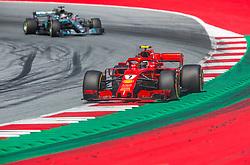 July 1, 2018 - Spielberg, Austria - Kimi Räikkönen of Finland and Scuderia Ferrari driver goes during the race at Austrian Formula One Grand Prix on July 01, 2018 in Red Bull Ring, Spielberg, Austria. (Credit Image: © Robert Szaniszlo/NurPhoto via ZUMA Press)