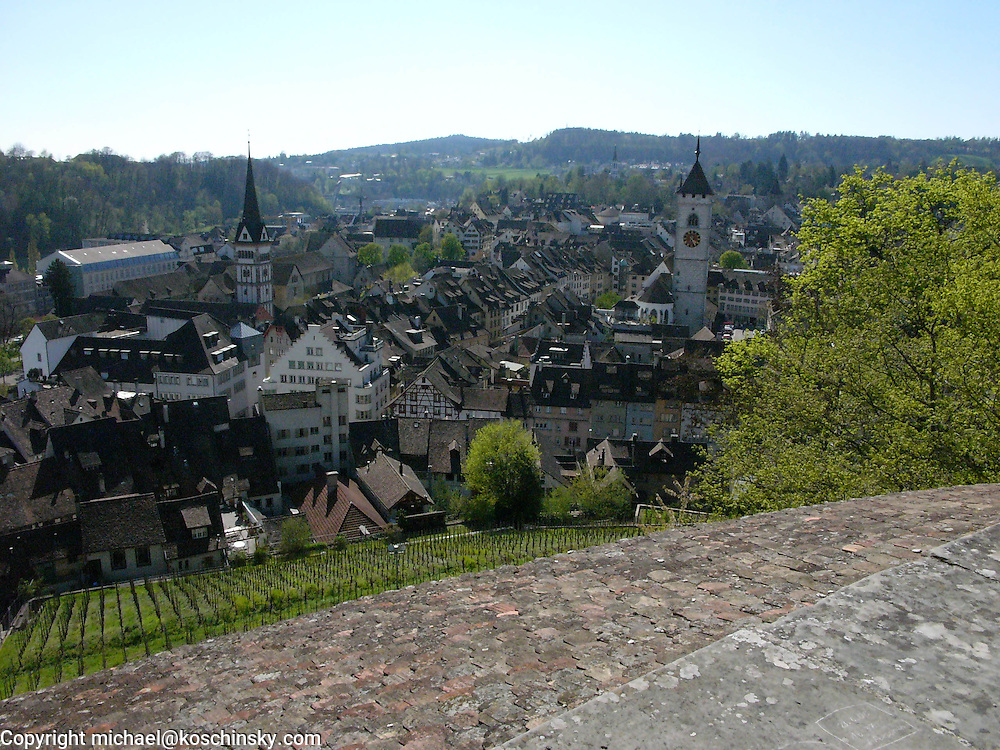 View from the Munot, Schaffhausen, Switzerland