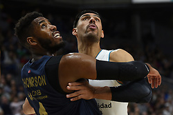 March 2, 2018 - Madrid, Madrid, Spain - Jason Thompson (left),  #1 of Fenerbahce and Gustavo Ayón, #14 of Real Madrid, in action during the 2017/2018 Turkish Airlines EuroLeague Regular Season Round 24 game between Real Madrid and Fenerbahce Dogus Istanbul at WiZink center in Madrid. (Credit Image: © Jorge Sanz/Pacific Press via ZUMA Wire)