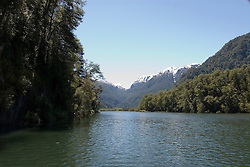 Chile, Lake Country: Scene while touring the Rio Negro near Peulla..Photo #: ch654-33974..Photo copyright Lee Foster www.fostertravel.com, lee@fostertravel.com, 510-549-2202.
