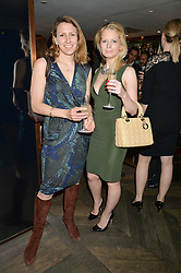 Left to right, LINDA NELSON and CLAUDIA BADAL at the 3rd birthday party for Spectator Life magazine hosted by Andrew Neil and Olivia Cole held at the Belgraves Hotel, 20 Chesham Place, London on 31st March 2015.