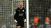 Football - 2016 / 2017 Premier League - Leicester City vs. Liverpool<br /> <br /> Kasper Schmeichel of Leicester City celebrates during the match at The King Power Stadium.<br /> <br /> COLORSPORT/LYNNE CAMERON