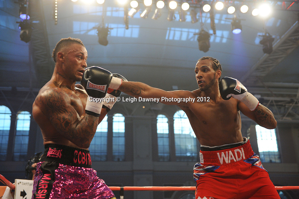 Wadi Camacho defeats Andy Ingram in a 6x3 Cruiserweight contest at Alexandra Palace, Muswell Hill, North London on Saturday 8th September 2012. Matchroom Sport. Pictures © Leigh Dawney Photography 2012.
