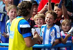 Michael Hefele of Huddersfield Town signs autographs for fans - Mandatory by-line: Matt McNulty/JMP - 26/08/2017 - FOOTBALL - The John Smith's Stadium - Huddersfield, England - Huddersfield Town v Southampton - Premier League