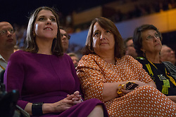 Bournemouth, UK. 15 September, 2019. Jo Swinson, Leader of the Liberal Democrats, listens to speakers on the Stop Brexit motion during the Liberal Democrat Autumn Conference. Following a vote won by an overwhelming majority, the Liberal Democrats pledged to cancel Brexit if they win power at the next general election. This marks a shift in policy from their previous backing for a People's Vote. Credit: Mark Kerrison/Alamy Live News