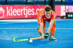 The Netherlands Sander De Wijn. England v Netherlands  - Unibet EuroHockey Championships, Lee Valley Hockey & Tennis Centre, London, UK on 23 August 2015. Photo: Simon Parker