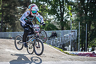 #469 (HERNANDEZ Stefany) VEN during practice at Round 5 of the 2018 UCI BMX Superscross World Cup in Zolder, Belgium
