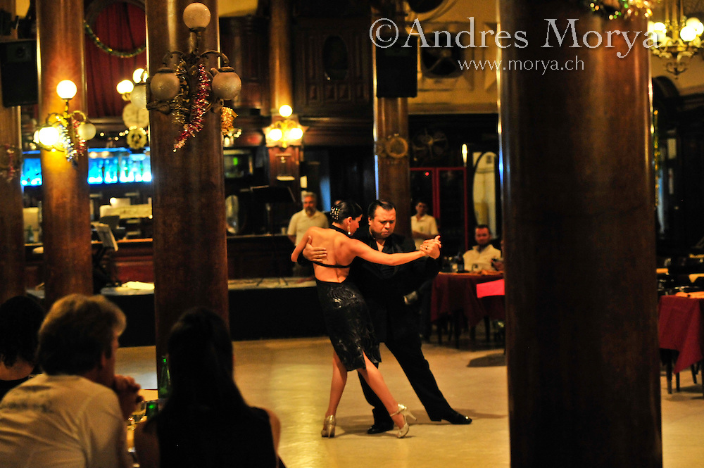 Tango Dancers in the Milonga La Confiteria Ideal, National Monument, Buenos Aires, Argentina Image by Andres Morya