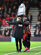 Substitution - Benik Afobe (9) of Bournemouth replaces Joshua King (17) of AFC Bournemouth during the Premier League match between Bournemouth and Everton at the Vitality Stadium, Bournemouth, England on 30 December 2017. Photo by Graham Hunt.