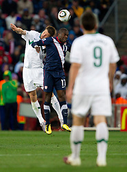 Bostjan Cesar of Slovenia vs Jozy Altidore of USA during the 2010 FIFA World Cup South Africa Group C match between Slovenia and USA at Ellis Park Stadium on June 18, 2010 in Johannesberg, South Africa. (Photo by Vid Ponikvar / Sportida)