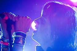 Julian Casablancas, chief songwriter of the American rock band The Strokes, plays a solo show on the Futures Stage, on Saturday night, T in the Park 2010..