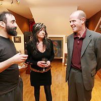 Daniel Ponte,Mary Robbins and Kevin Quinlan attending the Art Exhibition Opening at the Exercise Studio Francis Street on Saturday evening.<br /><br />Photograph by Eamon Ward