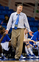 November 30, 2009; San Jose, CA, USA;  San Jose State Spartans head coach George Nessman during the second half against the Saint Mary's Gaels at the Event Center Arena.  Saint Mary's defeated San Jose State 78-71.