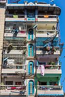 building facade in downtown Yangon (Rangoon) in Myanmar (Burma)