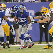 Rueben Randle, New York Giants, in action during the New York Giants Vs Green Bay Packers, NFL American Football match at MetLife Stadium, East Rutherford, New Jersey, USA. 17th November 2013. Photo Tim Clayton