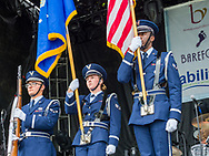 Air Force reserve color guard presents the flag on the GMC Sierra Stage during the Citadel Country Spirit USA music festival.<br /> <br /> For three days in August, country music fans celebrated at the Citadel Country Spirit USA music festival, held on the Ludwig's Corner Horse Show Grounds.