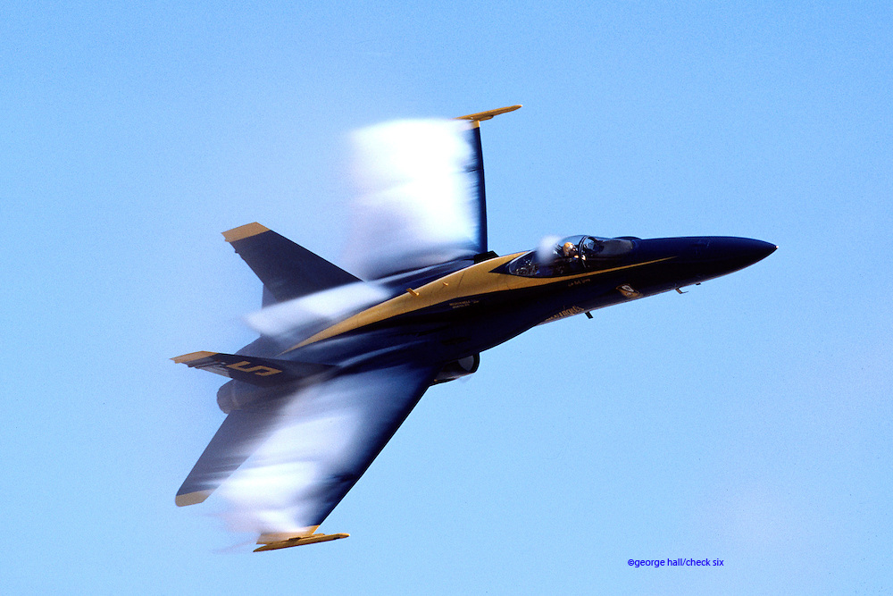 F/A-18A Hornet Blue Angels solo